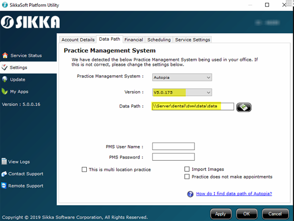 Sikka Software Corporation - Verifying data Path of the